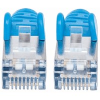 CAT6a S/FTP Network Cable Blue, 0.5 m
