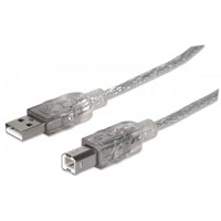 Hi-Speed USB B Device Cable Translucent Silver, 1.8 m